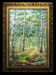 Одна из выставленных работ