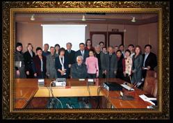 4 декабря 2008 г. Встреча сотрудников ИГД им. Д. А. Кунаева с академиком НАН РК Э. А. Туркебаевым
