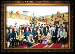 18 января 2008 г. Сотрудники ИГД им. Д. А. Кунаева и приглашенные на  юбилейном вечере в столовой Института.