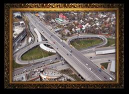 Транспортная развязка на пересечении ул. Саина с пр. Райымбека